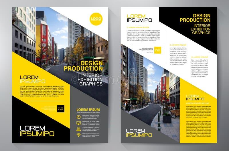 Mall för design a4 för affärsbroschyrreklamblad royaltyfri illustrationer
