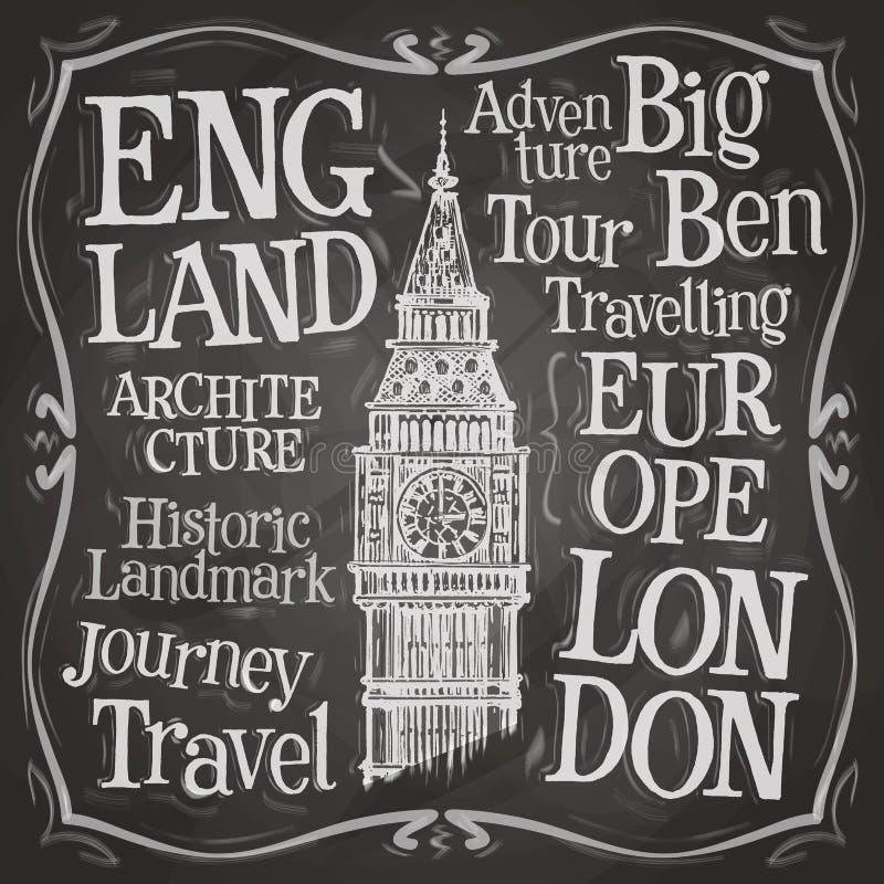 Mall för design för Big Ben vektorlogo London UK eller vektor illustrationer