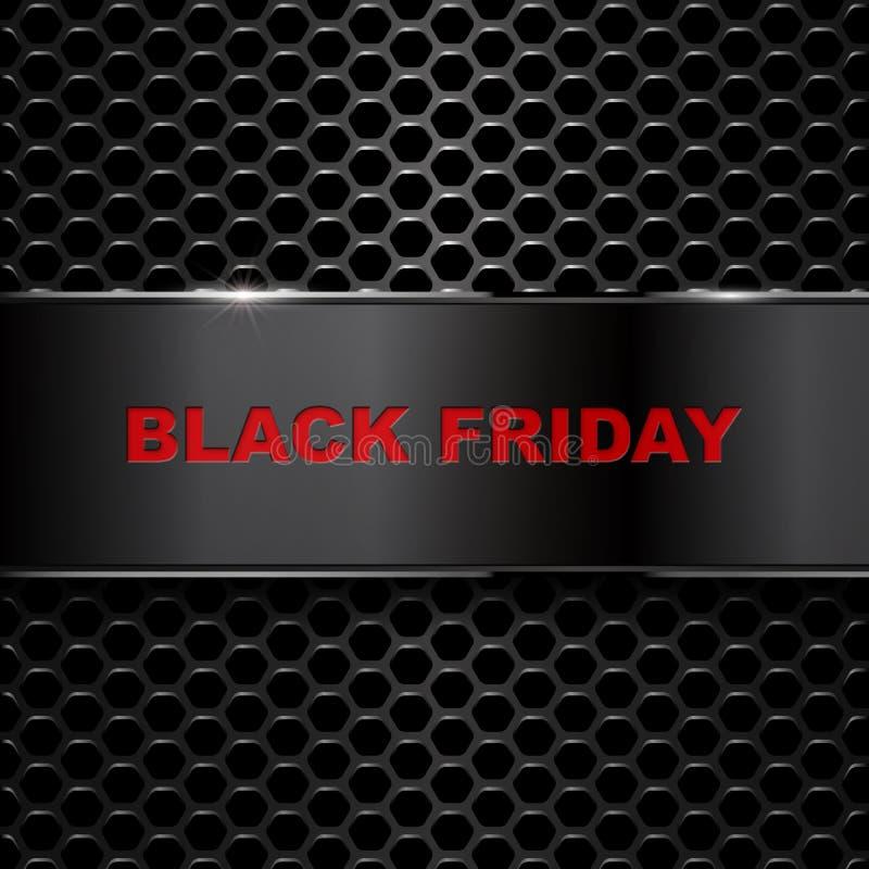 Mall för design för Black Friday försäljningsinskrift vektor illustrationer