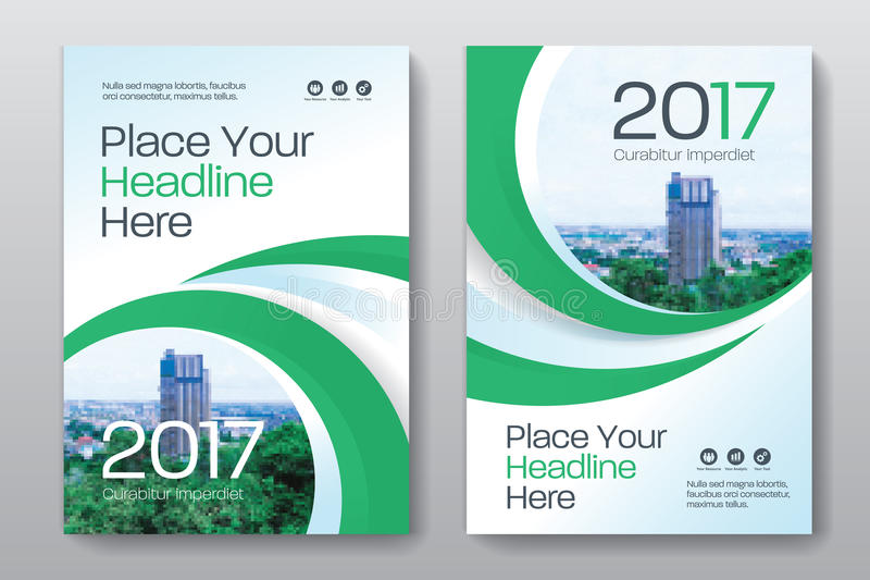 Mall för design för bokomslag för stadsbakgrundsaffär i A4