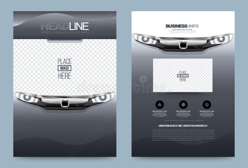 Mall för design för reklamblad för affärsårsrapportbroschyr royaltyfri illustrationer