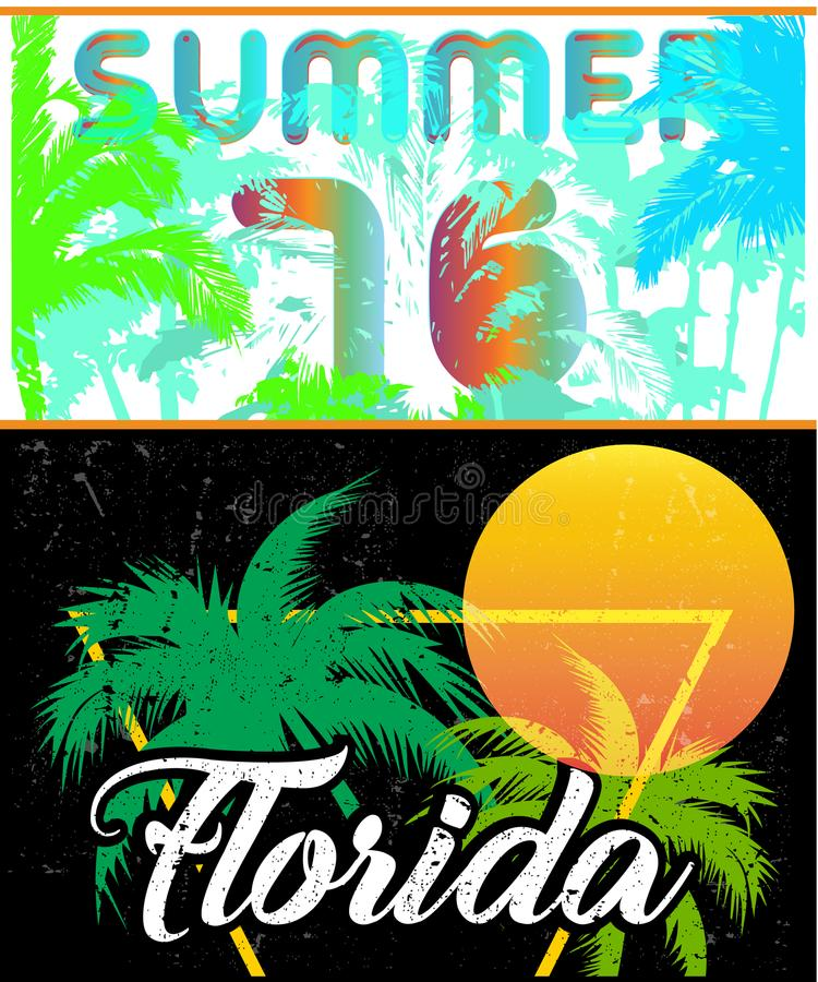 Mall för design för Florida seglingaffisch royaltyfri illustrationer