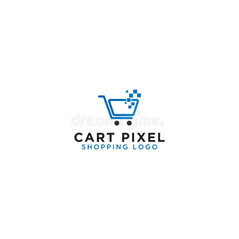 Mall för design för logo för shoppingvagn royaltyfri illustrationer