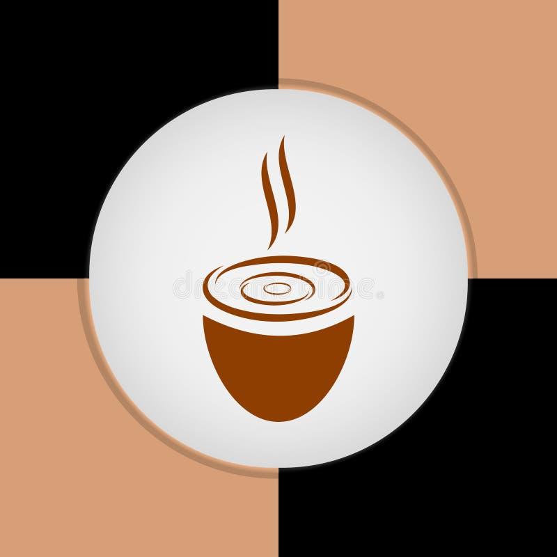 Mall för design för logo för vektor för kaffekopp Vektorcoffee shopetiketter arkivfoto