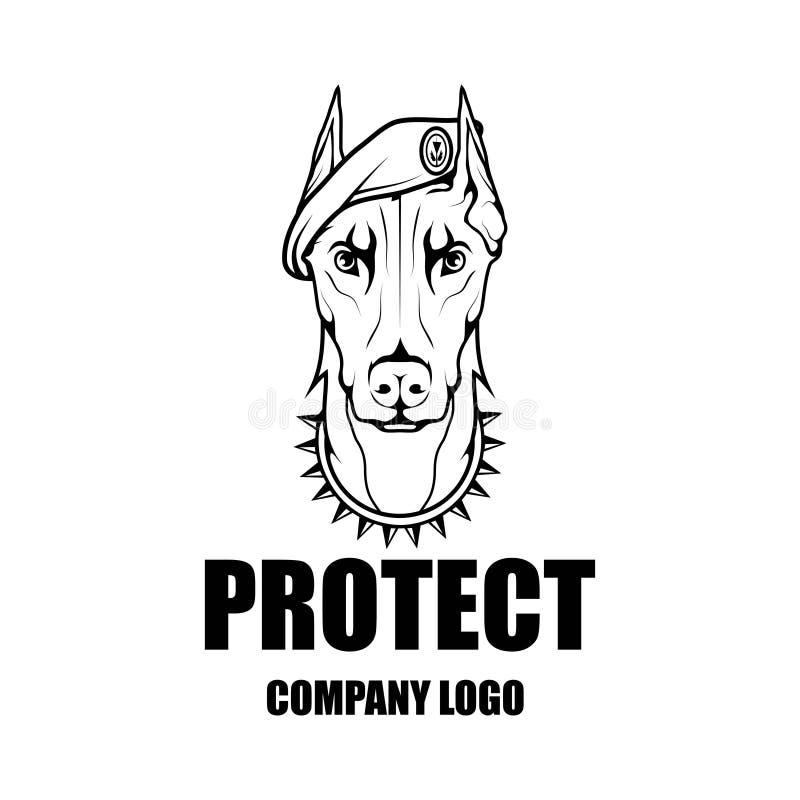 Mall för design för logo för vektor för säkerhetsföretag royaltyfri illustrationer