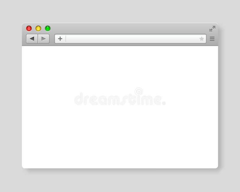 Mall för designinternetwebbläsare royaltyfri illustrationer