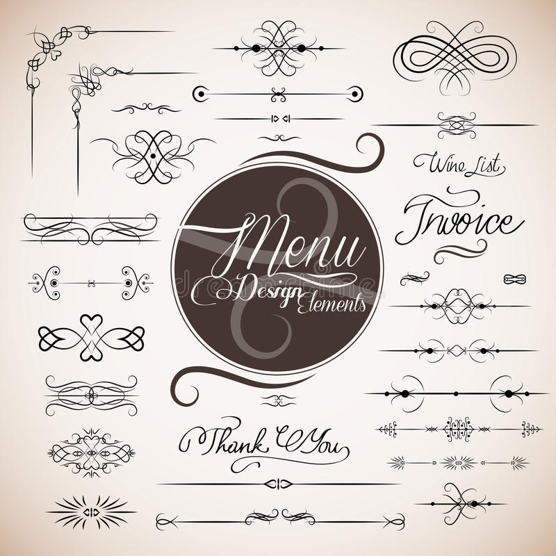 mall för designmenyrestaurang vektor illustrationer