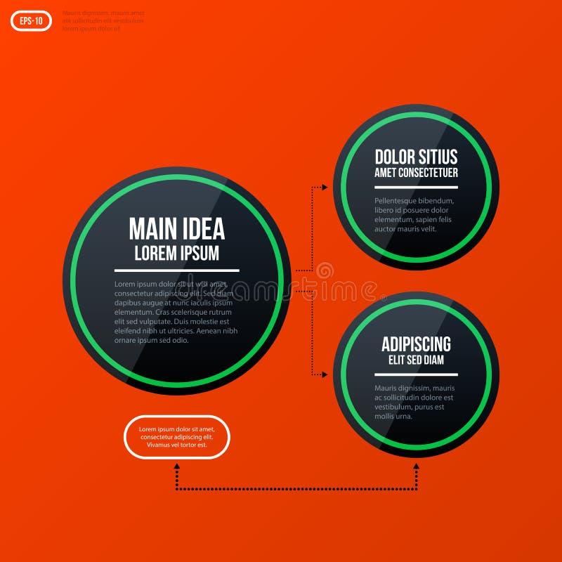 Mall för diagram för företags organisation vektor illustrationer