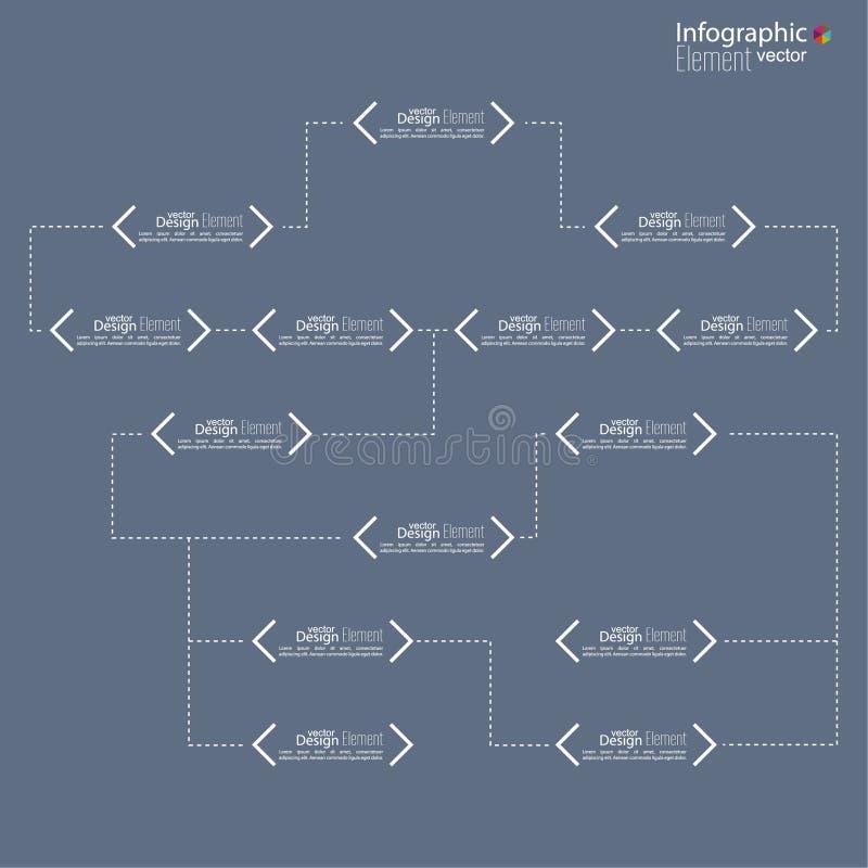 Mall för diagram för företags organisation med royaltyfri illustrationer