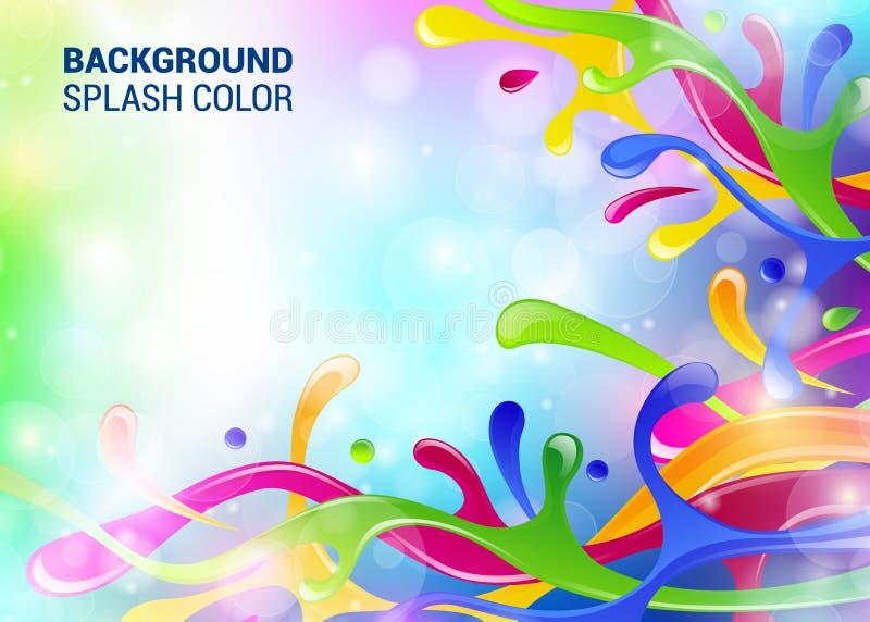 Mall för färgstänkbakgrundsräkning färgrik färgstänk för utrymme för räkning för form för garnering för tapet för abstrakt begrep stock illustrationer