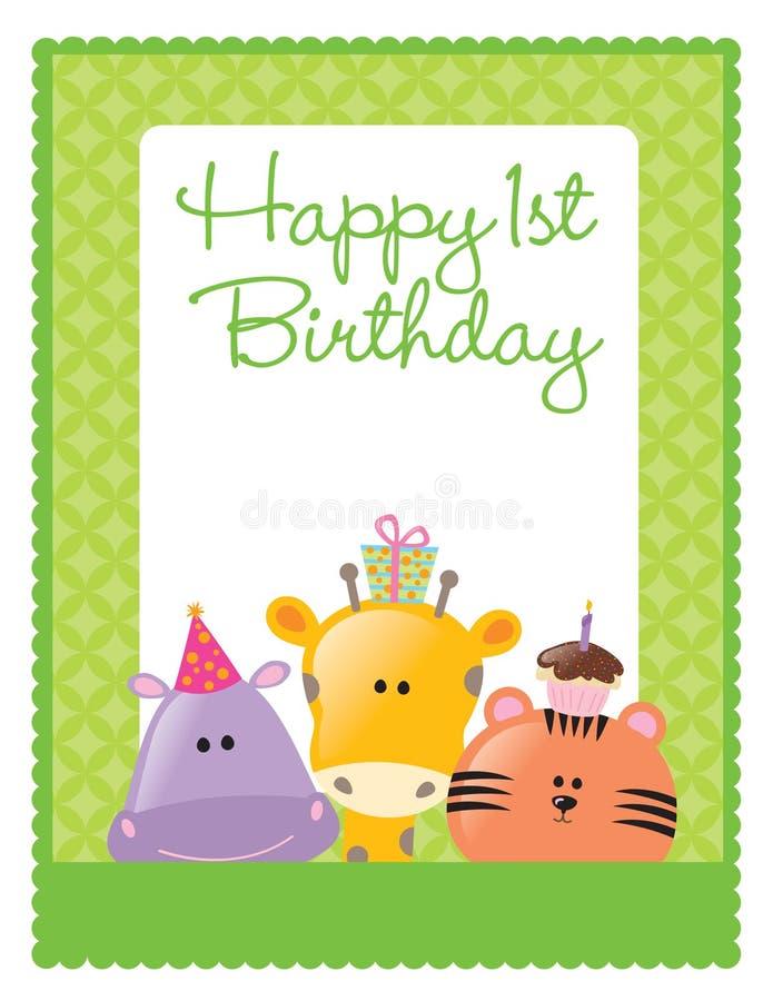mall för födelsedagreklambladaffisch royaltyfri illustrationer