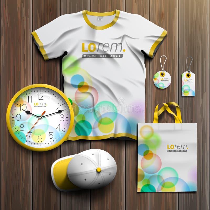 Mall för företags identitet och befordrings- gåvor vektor illustrationer
