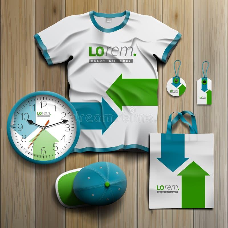 Mall för företags identitet och befordrings- gåvor stock illustrationer