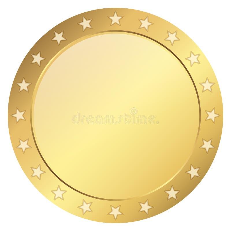 mall för guld- skyddsremsa stock illustrationer