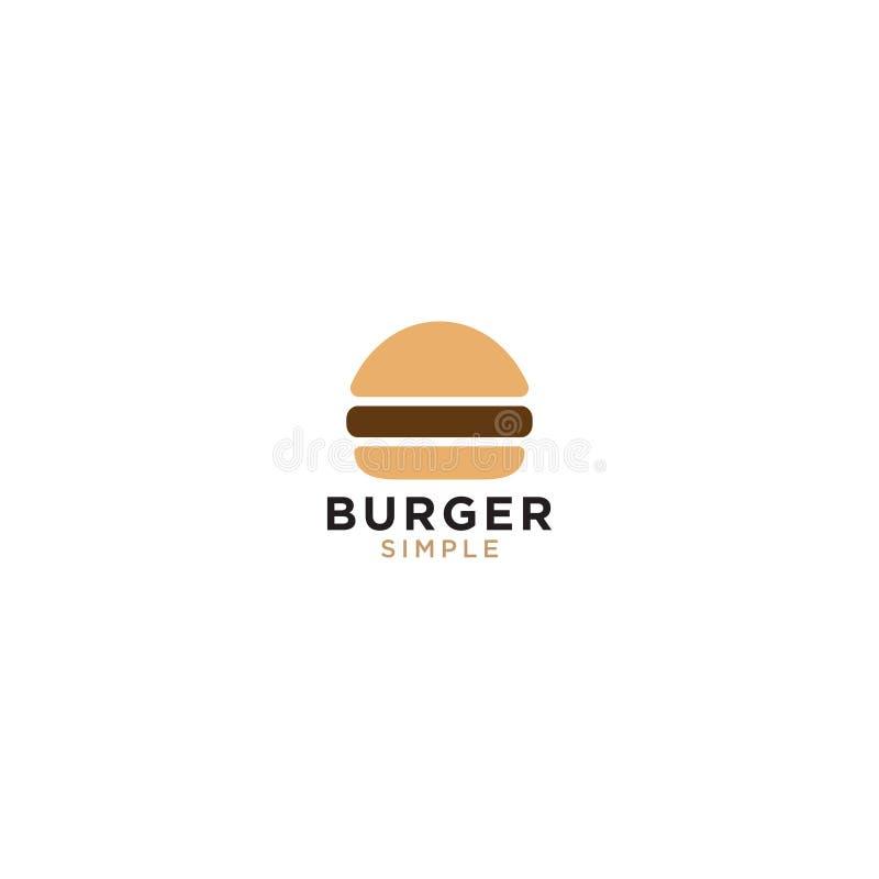 Mall för hamburgarelogodesign royaltyfri illustrationer