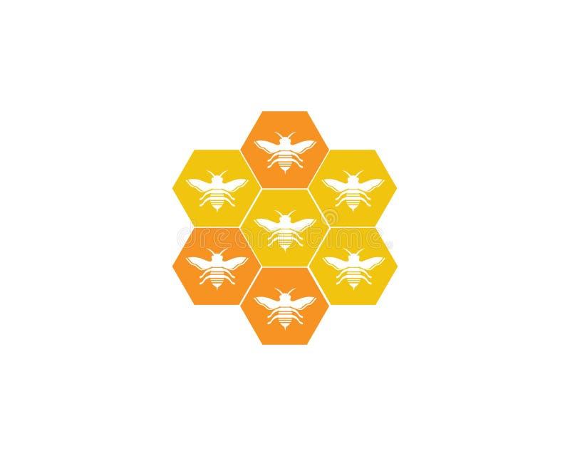 Mall för honungbilogo royaltyfri illustrationer