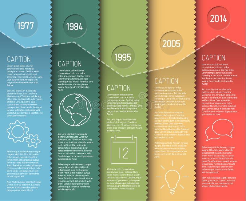 Mall för Infographic timelinerapport vektor illustrationer