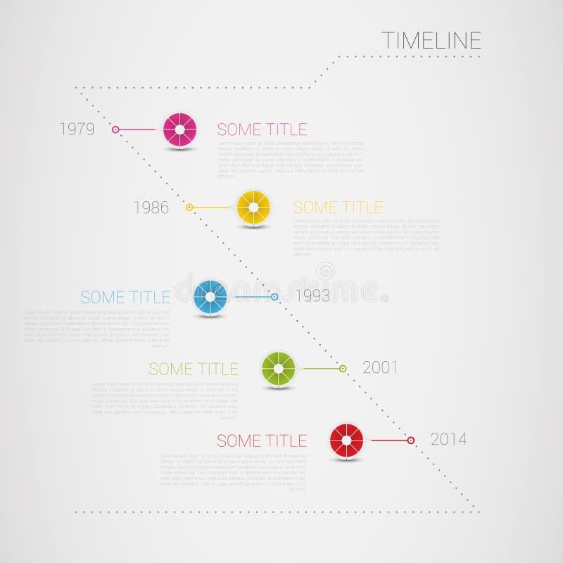 Mall för Infographic vektortimeline med cirkel I royaltyfri illustrationer