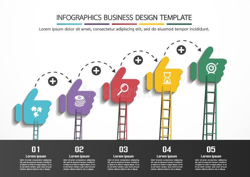 Mall för Infographics affärsdesign vektor illustrationer