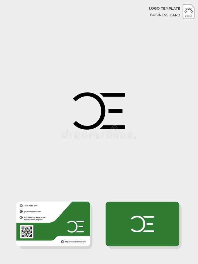 mall för initial logo för CE eller för EC idérik och mall för affärskort vektorillustration och logoinspiration stock illustrationer