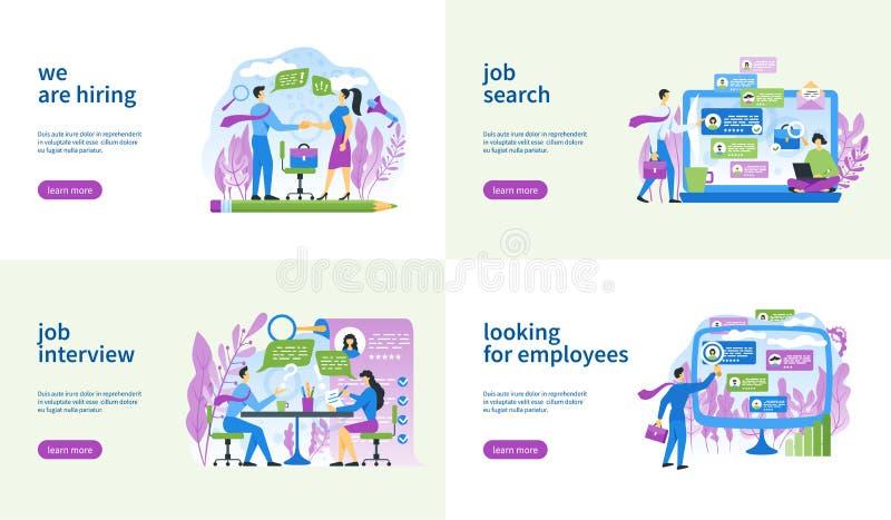 mall för jobbsökande 3d vektor illustrationer
