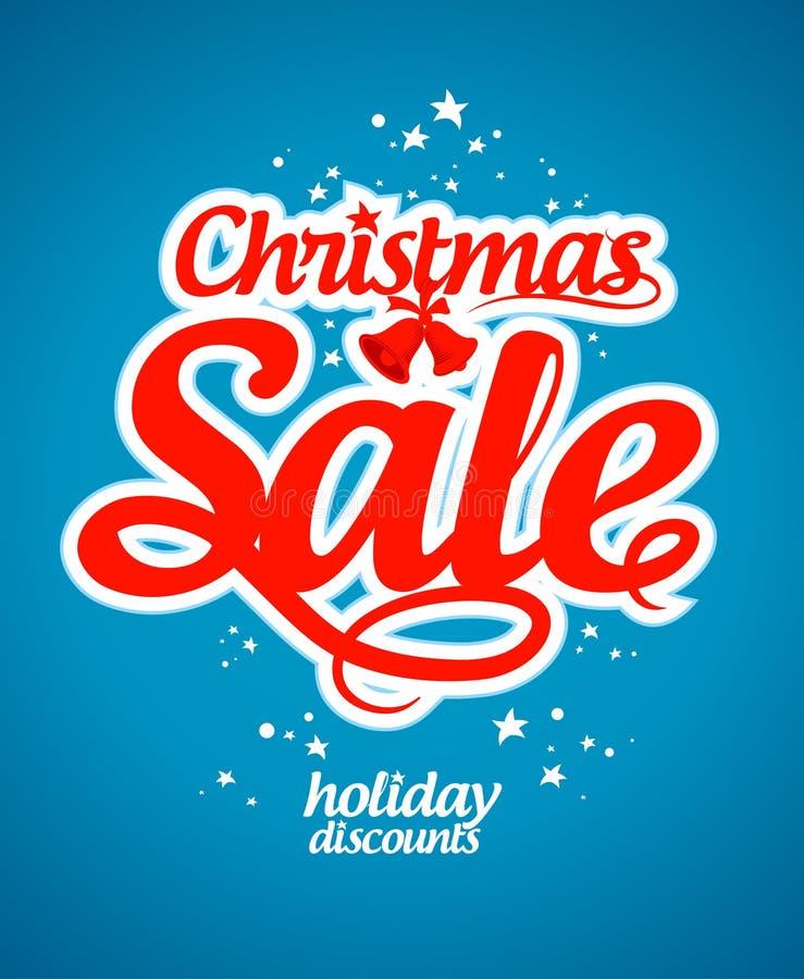 Mall för julförsäljningsdesign. vektor illustrationer