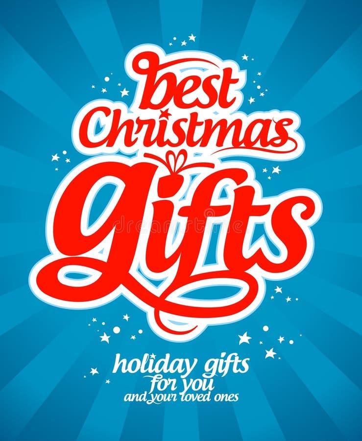 Mall för julgåvadesign. royaltyfri illustrationer