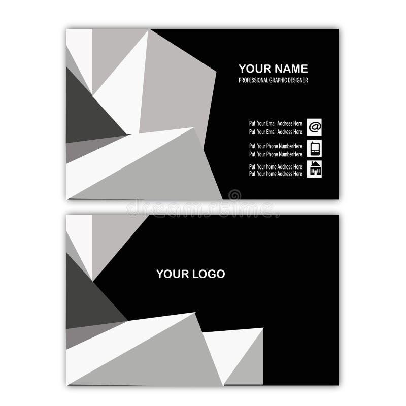 Mall för kort för affär för vitabstrakt begreppkub stock illustrationer