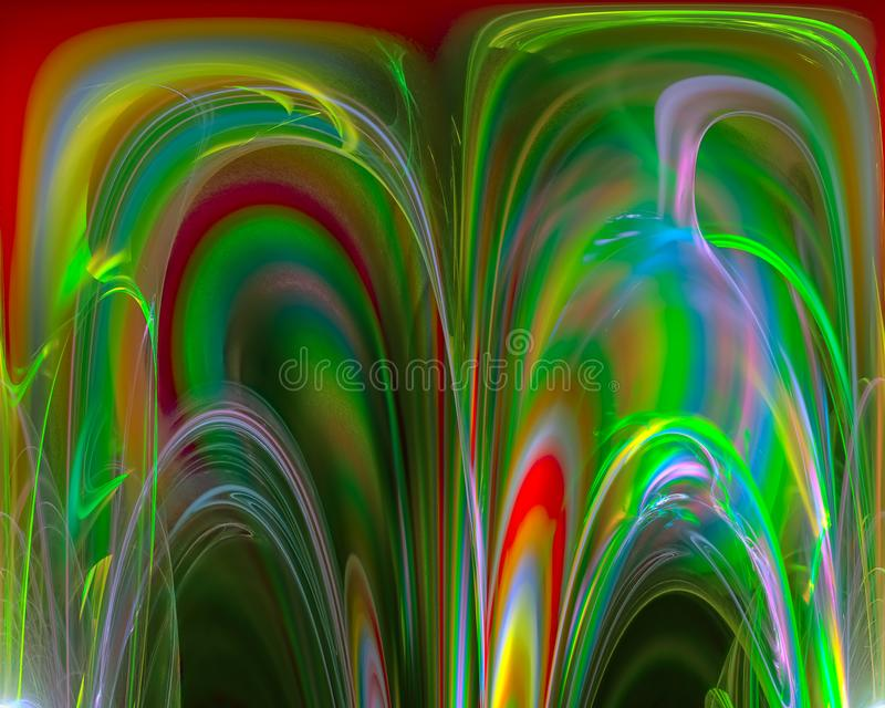 Mall för krullning för abstrakt för fantasi framtida härlig bakgrund för energi futuristisk grafisk, framtid, kort vektor illustrationer