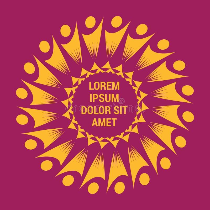 Mall för logo för arbete för folkutmärkthetlag vektor illustrationer