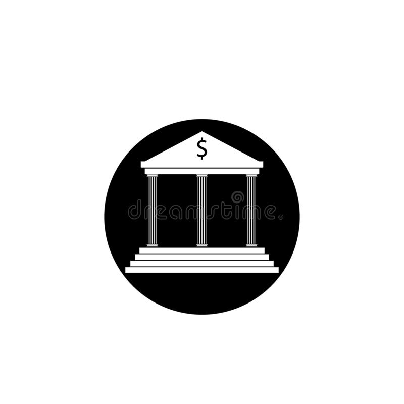 mall för logo för banksymbolsvektor stock illustrationer