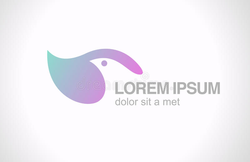 Mall för Logo Bird abstrakt begreppdesign. SPA sjukvård royaltyfri illustrationer