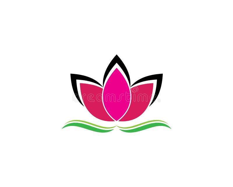 Mall för logo för design för skönhetvektorLotus blommor vektor illustrationer