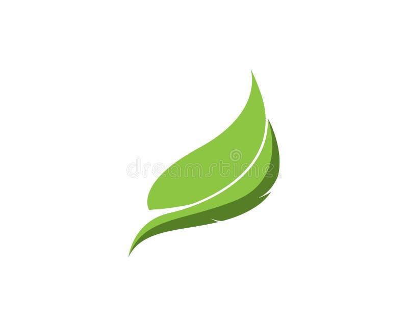 Mall för logo för fjäderpennblad vektor illustrationer