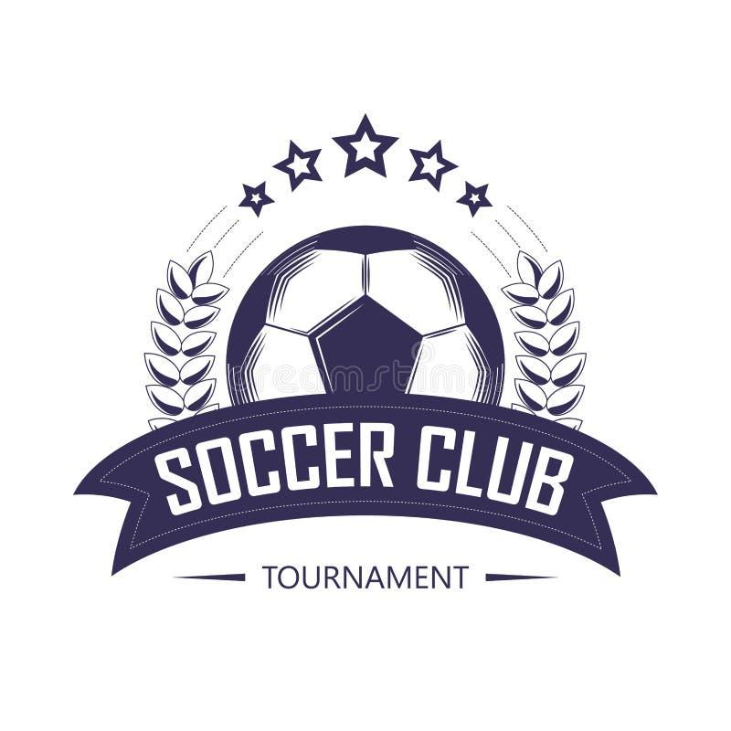Mall för logo för fotbollklubba- eller fotbollslagliga vektor illustrationer