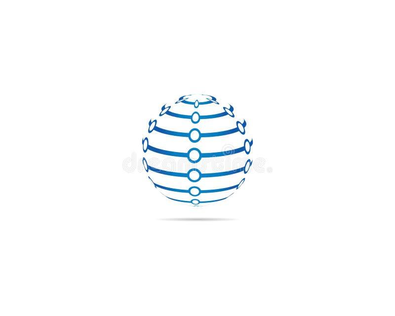 Mall för logo för jordklotaffärsvektor stock illustrationer