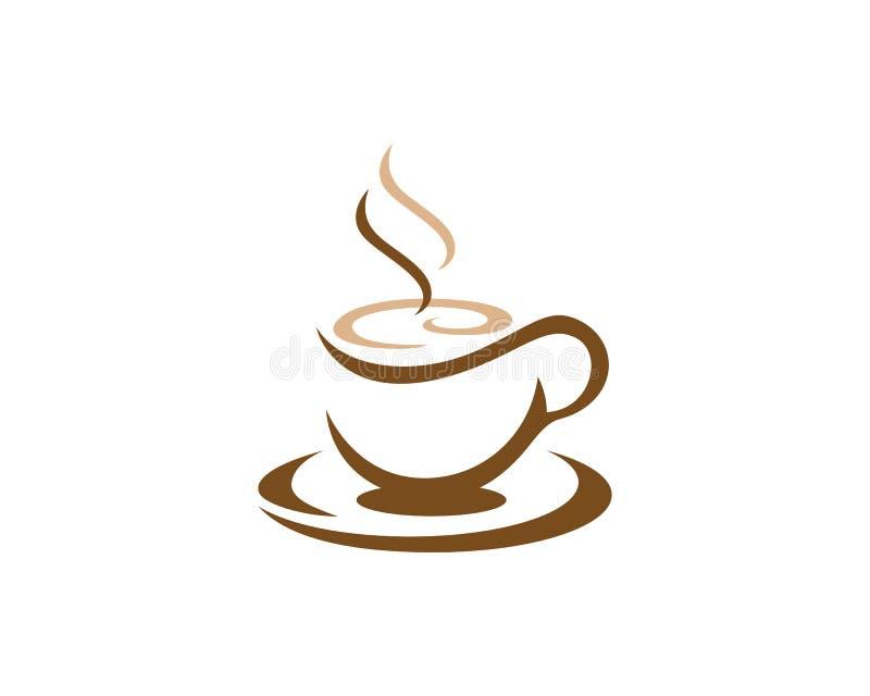 Mall för logo för kaffekopp royaltyfri illustrationer