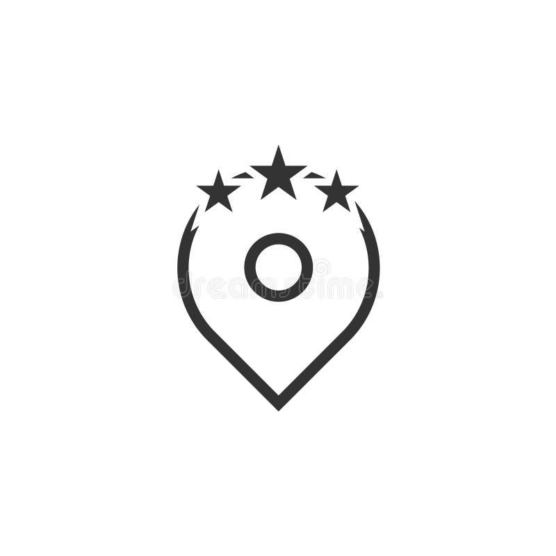 Mall för logo för stjärnastiftsymbol fotografering för bildbyråer