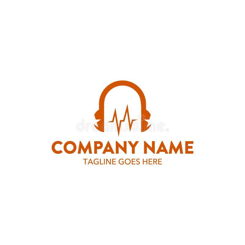 Mall för logo för unik dj-musik släkt vektor redigerbart vektor illustrationer