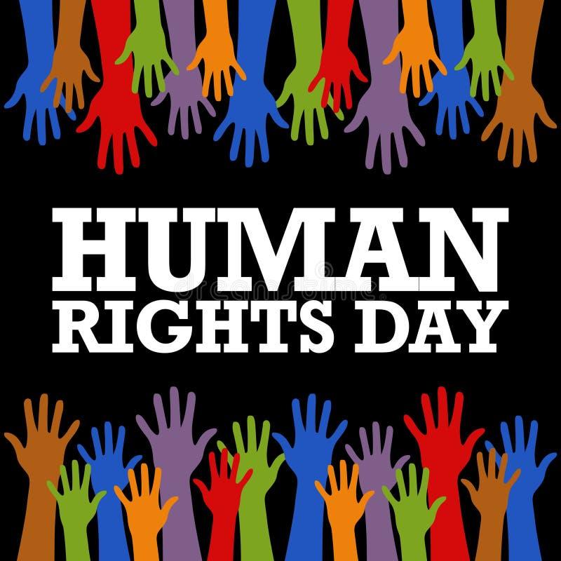 Mall för mänsklig rättighetdagvektor vektor illustrationer