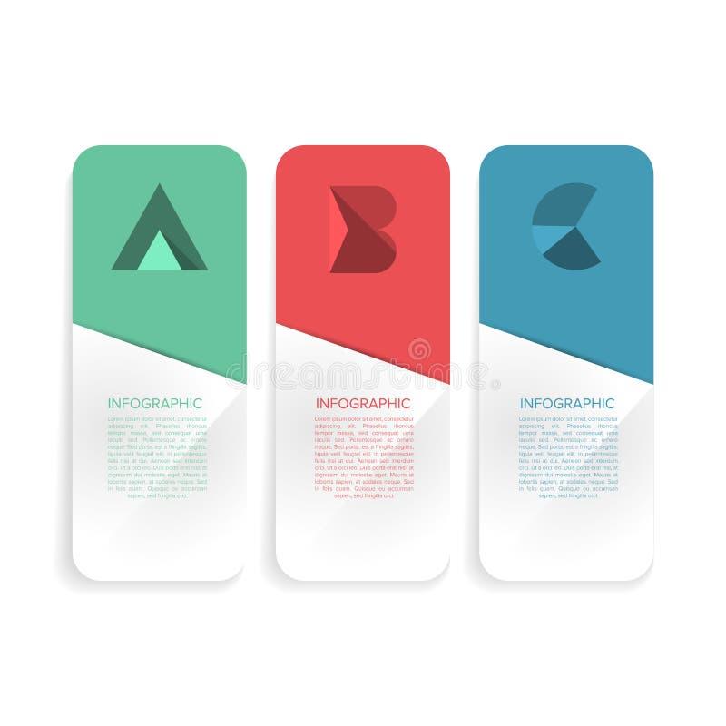 Mall för minsta stil för modern design infographic med alfabet arkivbild