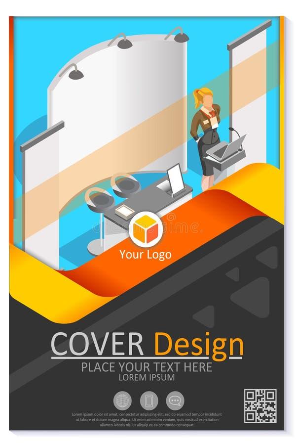 Mall för modern för reklamblad för företagsinformationsblad redigerbar vektor för design vektor illustrationer