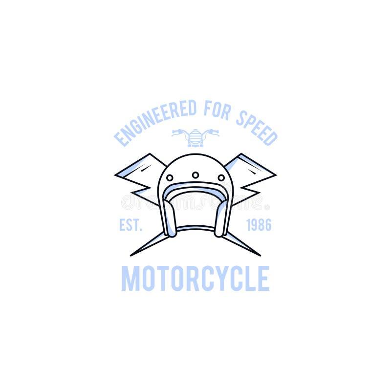 Mall för motorcykellogovektor Logomall för din affär stock illustrationer
