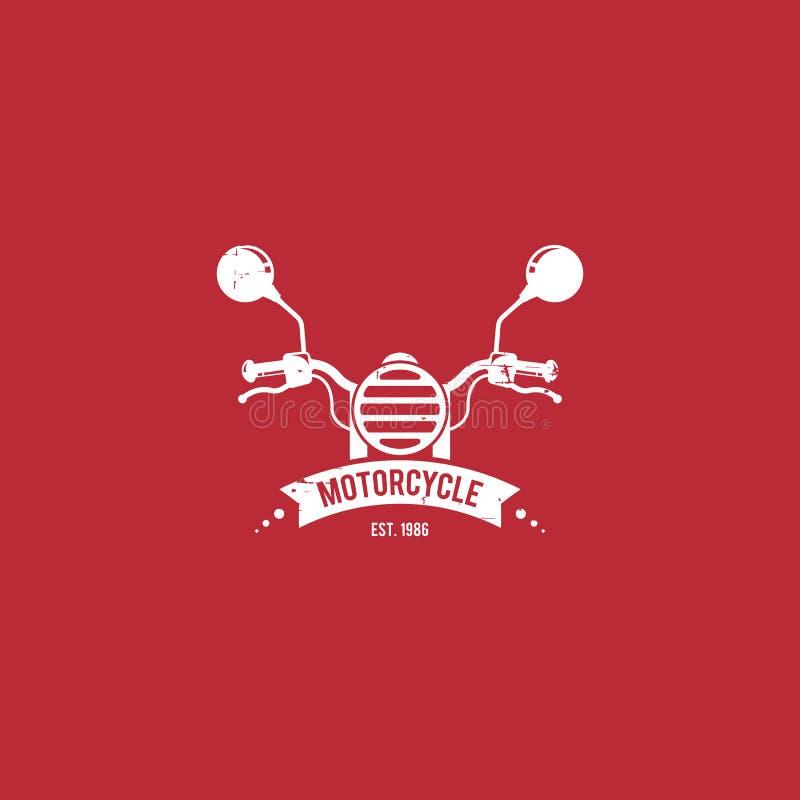Mall för motorcykellogovektor Logomall för din affär vektor illustrationer