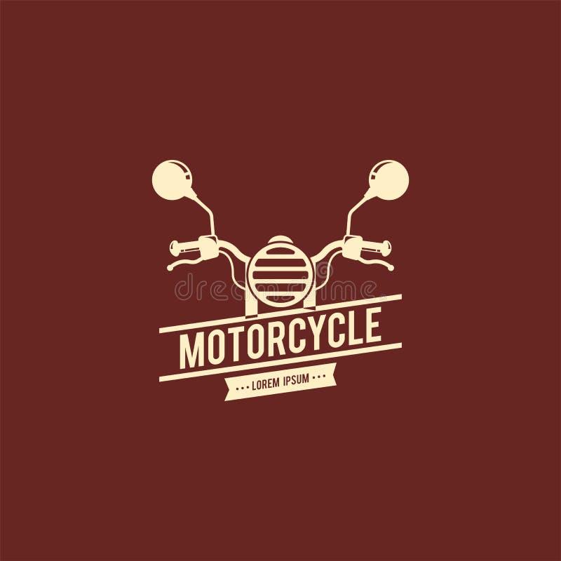Mall för motorcykellogovektor Logomall för din affär royaltyfri illustrationer