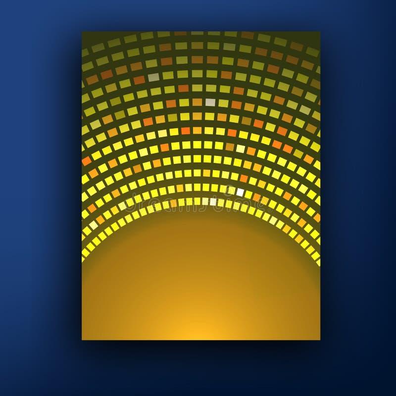 Mall för orientering för design för affärsbroschyrreklamblad i formatet A4, med suddighetsbakgrund, vektor eps10 stock illustrationer