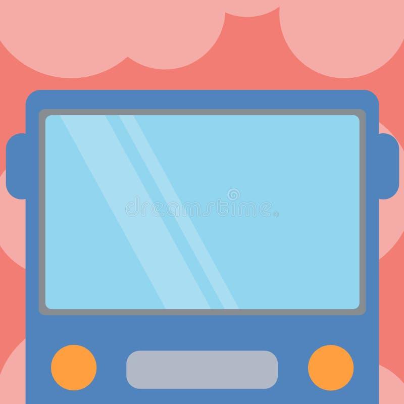 Mall för orientering för designaffär tom mall isolerad Minimalist grafisk för annonsering av den utdragna lägenheten Front View a vektor illustrationer