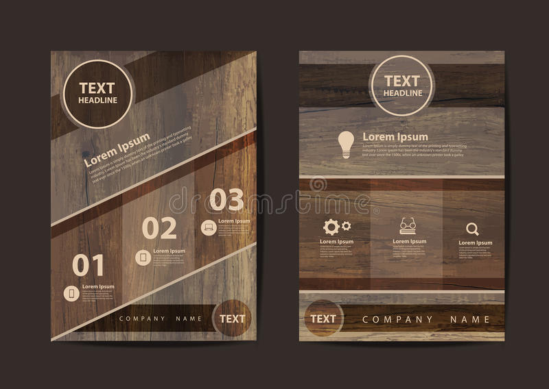 Mall för orientering för design för reklamblad för vektoraffärsbroschyr i formatet A4 vektor illustrationer