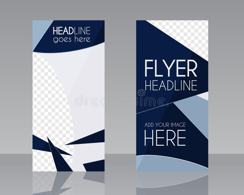 Mall för orientering för design för vektorbroschyrreklamblad _ royaltyfri illustrationer