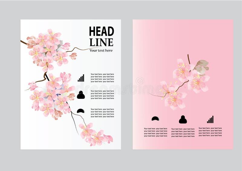 Mall för orientering för design för vektorbroschyrreklamblad, format A4, förstasida- och baksidasida vektor illustrationer